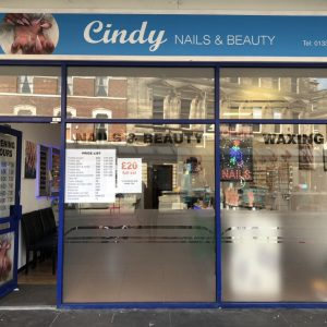 Cindy nails and beauty salon shop front