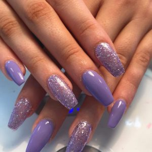 Cindy Nails And Beaty Nail Extensions With Sparking Designs 2