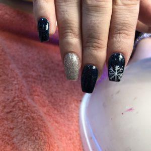 Christmas nail design 1