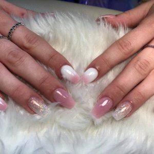 ombre nail with glitter design 060319 4